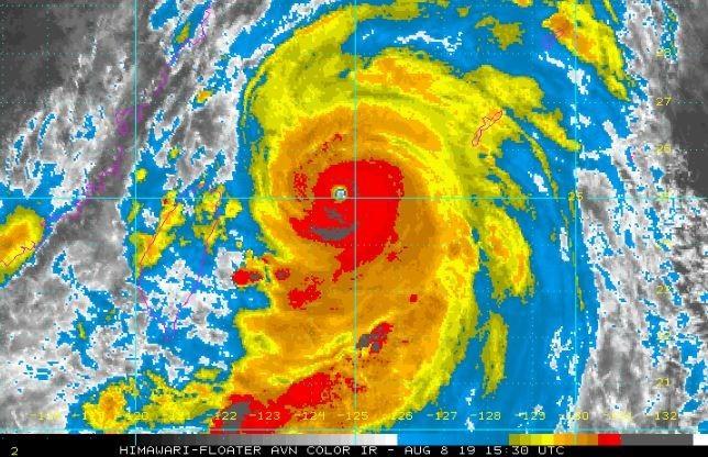 美國國家海洋及大氣管理局持續監測利奇馬颱風。(圖擷取自NOAA)