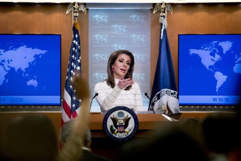 美國國務院發言人歐塔加斯(Morgan Ortagus)。(美聯社)