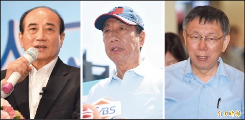鴻海創辦人郭台銘日前和籌組「台灣民眾黨」的台北市長柯文哲通電話,3日和「參選總統到底」的前立法院長王金平密會長談,郭、王、柯3人互動引發政壇議論。(資料照)