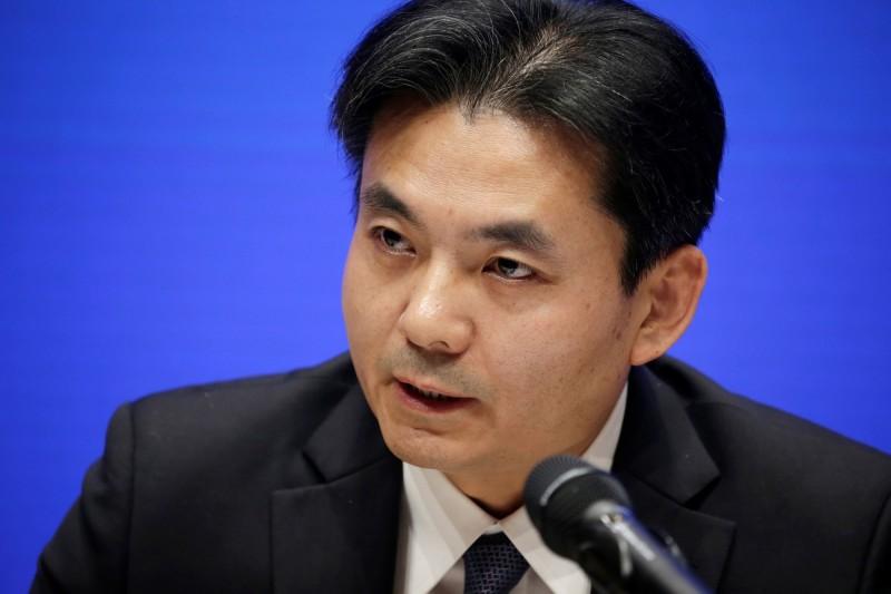 中國港澳辦發言人楊光在8月6日記者會上,把香港示威者說成是「肆無忌憚的極少數暴力犯罪分子」,並且警告「玩火者必自焚,該來的懲罰終將來到」。(路透資料照)