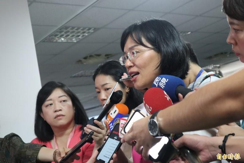 蘇巧慧表示,歡迎大家用4年來的成績檢視她有沒有資格繼續在這個位子上。(記者周湘芸攝)