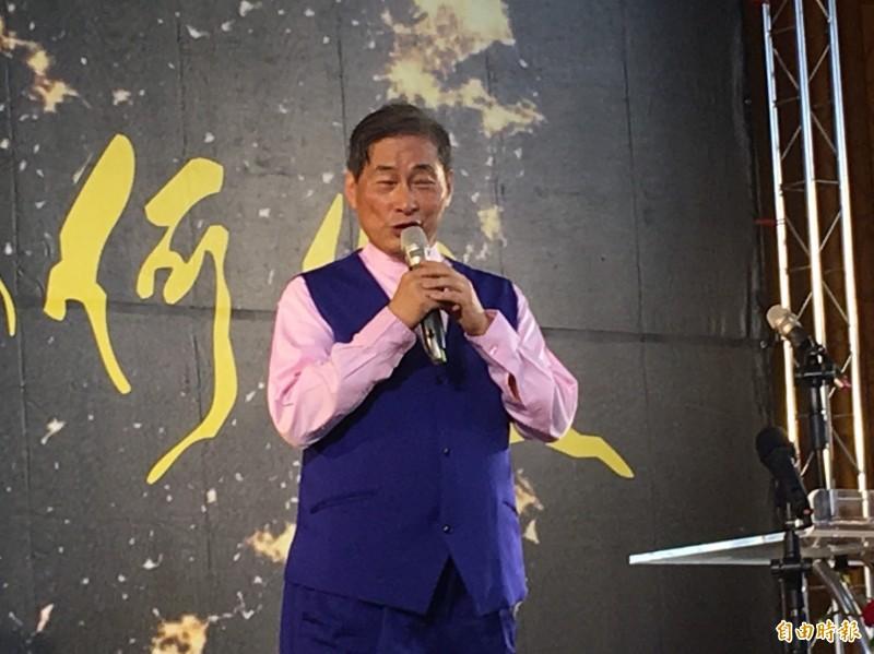 中華統一促進黨總裁張安樂到嘉義縣舉辦講座。(記者蔡宗勳攝)