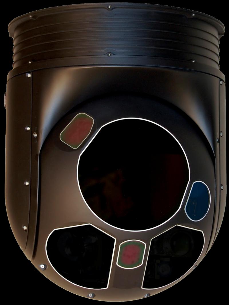 機鼻下的遠距離熱像儀。(取自:美國FLIR Systems公司網站)