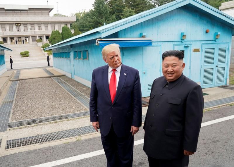 川普與金正恩於6月30日會面後,至今尚未恢復談判。(路透社)