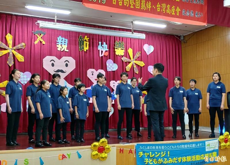 日本福島MJC合唱團到台中仁愛之家演出。(記者張菁雅攝)