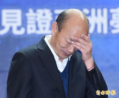 針對國民黨中評委陳宏昌諷刺「整天打麻將,整天吃喝玩樂,可以抱女人的,可以當總統?」國民黨總統提名人韓國瑜坦承年輕時確實放縱過,但現在的他跟20年前已不一樣。(資料照)