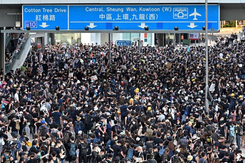 香港「民間人權陣線」將在本週日(18)發起遊行。(法新社)