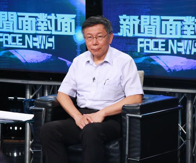 台北市長柯文哲今晚接受《新聞面對面》專訪;至今他仍不願鬆口表態是否參選2020總統大選,外傳最大心魔是「落跑市長」這4個字。(年代新聞台提供)