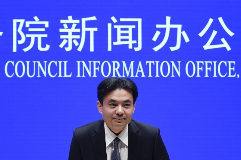 對於香港811的流血衝突,中國國務院港澳辦發言人楊光在記者會表示,譴責示威者攻擊警察,並稱「開始出現恐怖主義的苗頭」。(法新社)