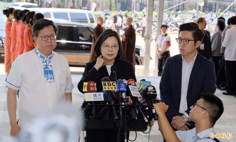 香港反送中衝突升溫,蔡總統籲港府應與人民溝通。(記者陳恩惠攝)