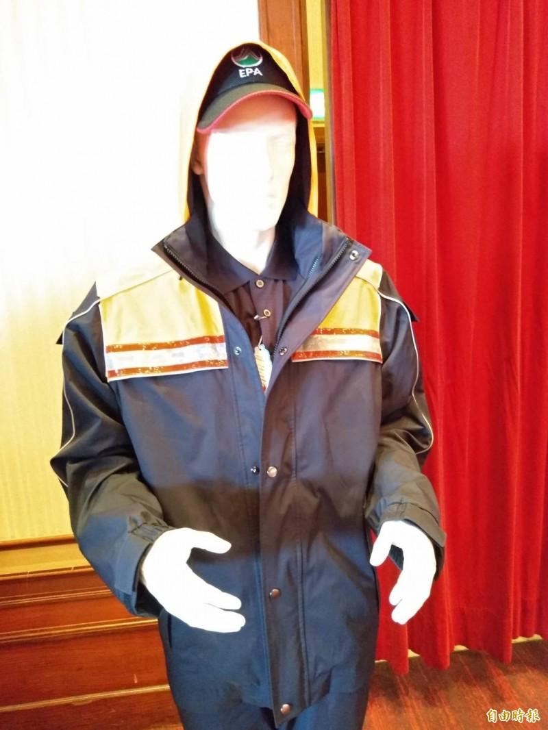 改善清潔隊員工作環境,環保署將發全國清潔隊員GORE-TEX外套 (記者劉力仁攝)