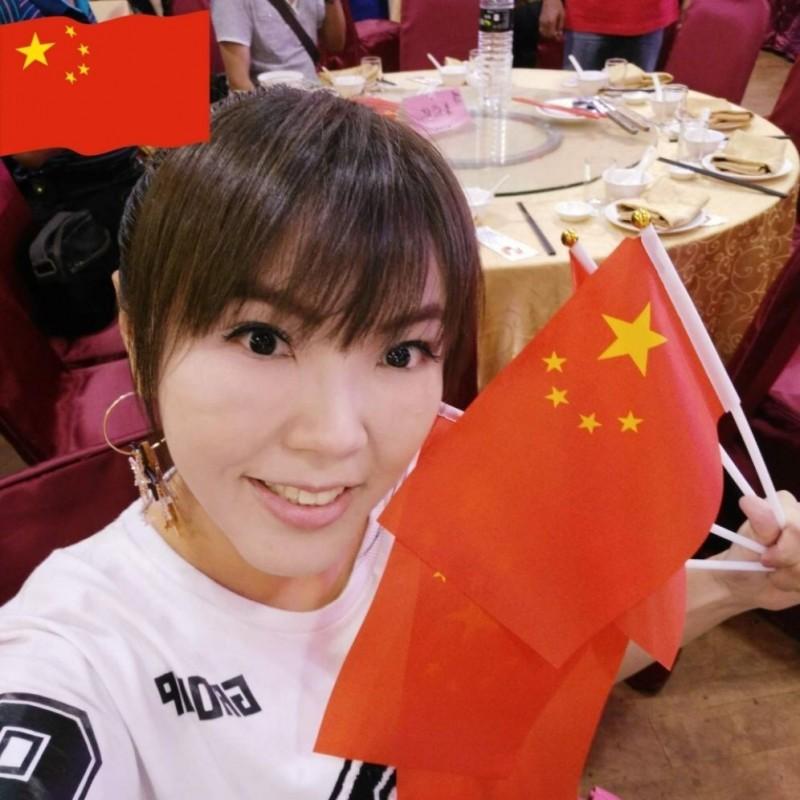 劉樂妍今(13)日發文表示要當「舔共第一人」,並立志要舔共舔到「無人能及」。(圖片擷取自微博)