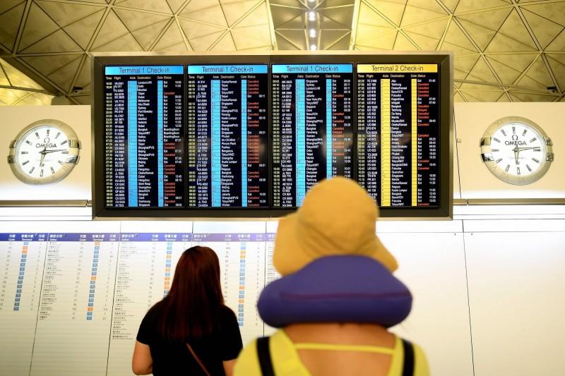 香港機場今早已恢復運作。(法新社)