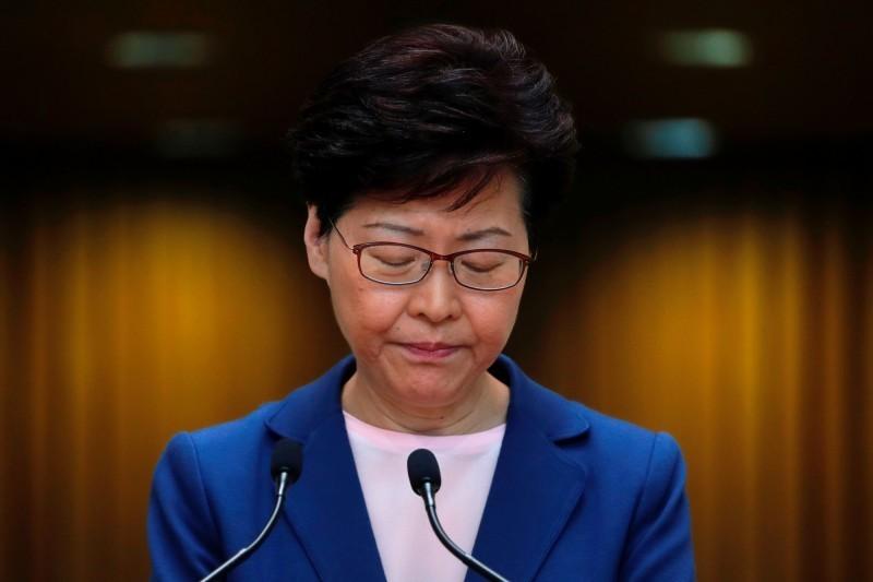反送中示威延燒,港民對香港特首林鄭月娥的不滿已屆臨界點。(路透)