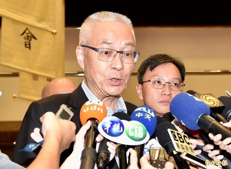 國民黨承認黨主席吳敦義近期確實有派員赴北京洽談,希望恢復自由行。(資料照)
