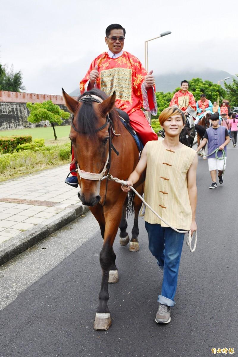 免費騎馬巡禮古城活動。(記者蔡宗憲攝)