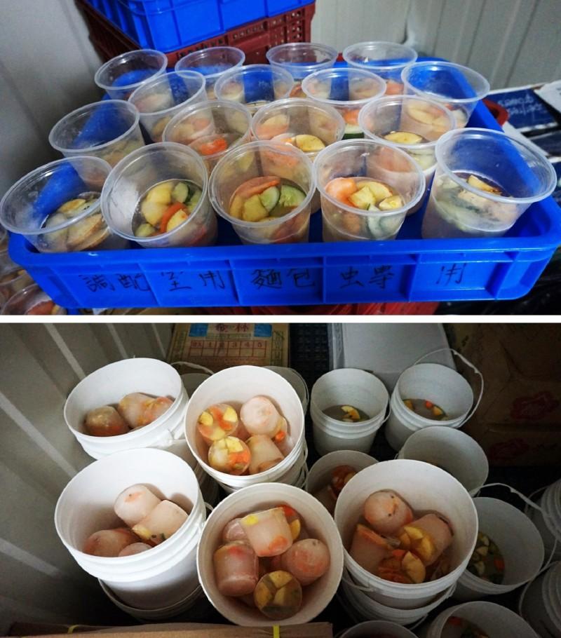 每到夏季,動物廚房的冷凍庫裡,都擺滿了為動物們準備的各式冰品。(台北市立動物園提供)