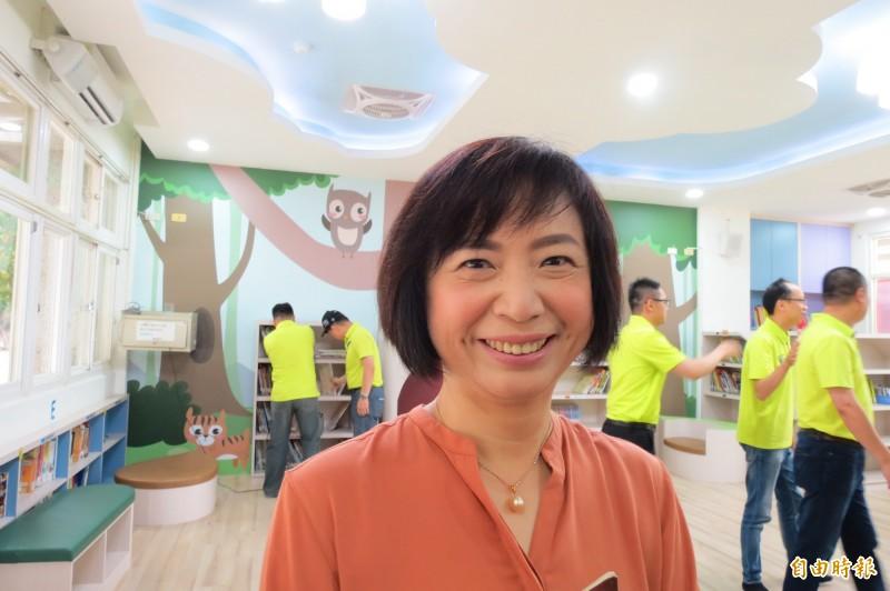 洪慈庸退黨,立委何欣純說,大綠小綠應為台灣主權而合作。(記者蘇金鳳攝)