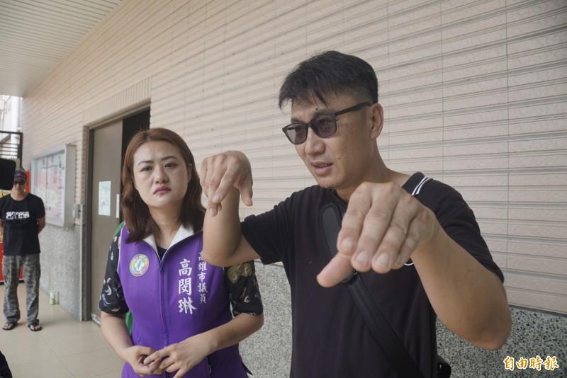 林女的姐夫要求檢警介入調查市府是否有疏失之處。(記者黃佳琳攝)