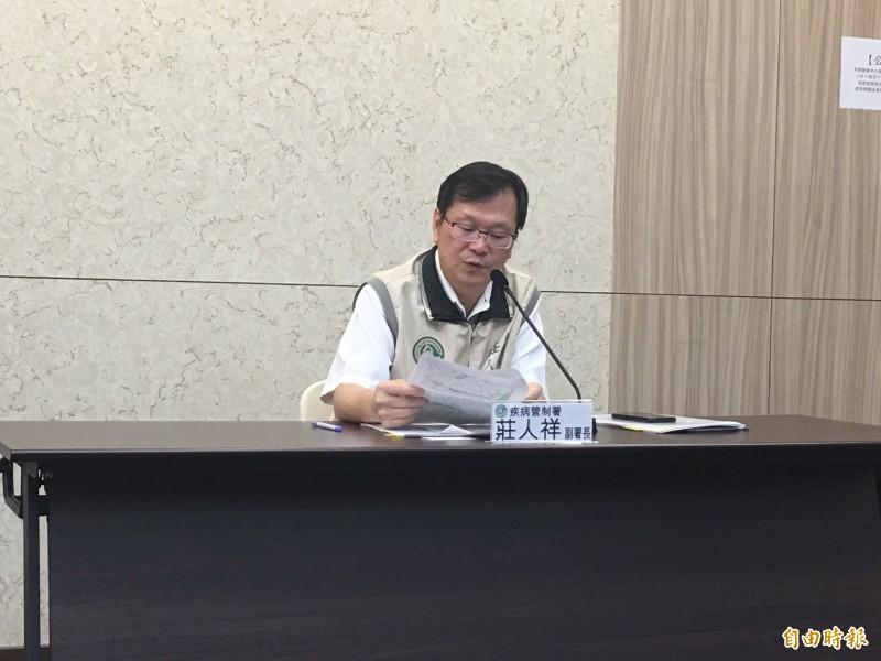 衛福部疾管署副署長莊人祥提醒,與麻疹個案有相關活動史的民眾,要記得自主健康管理。(記者林惠琴攝)