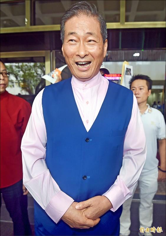 中華統一促進黨總裁「白狼」張安樂。(記者廖振輝攝)