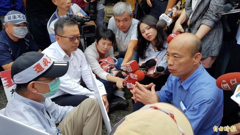 韓國瑜被蔡正元爆料收受國民黨4000萬競選經費,段宜康認為此款項是否為另1位藍營總統「想選人」代轉。(資料照)