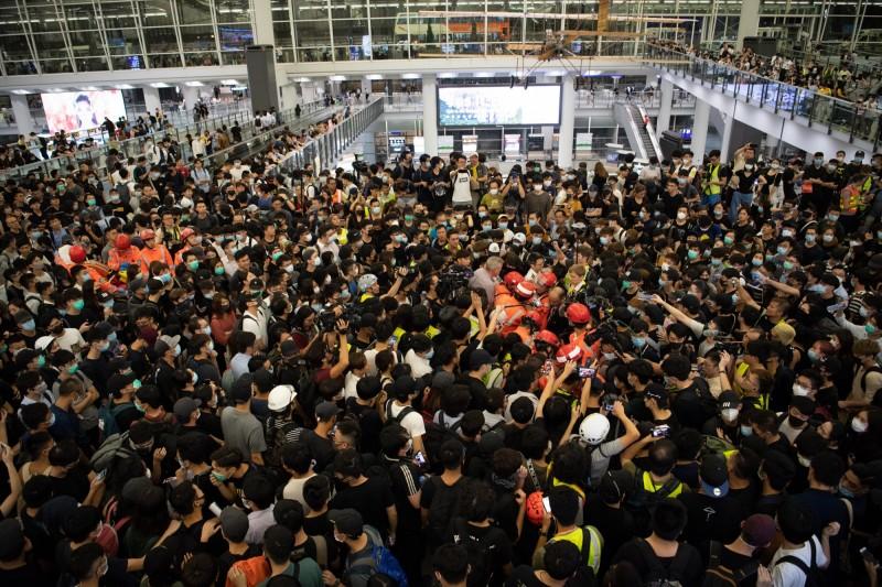香港機場管理局表示,已取得法庭臨時禁制令,禁止任何人在香港國際機場非法集會。(歐新社)
