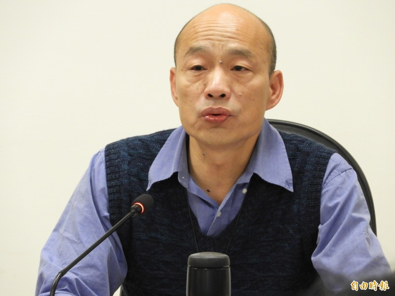 韓國瑜政治獻金結餘捐款已捐出逾500萬元。(記者葛祐豪攝)