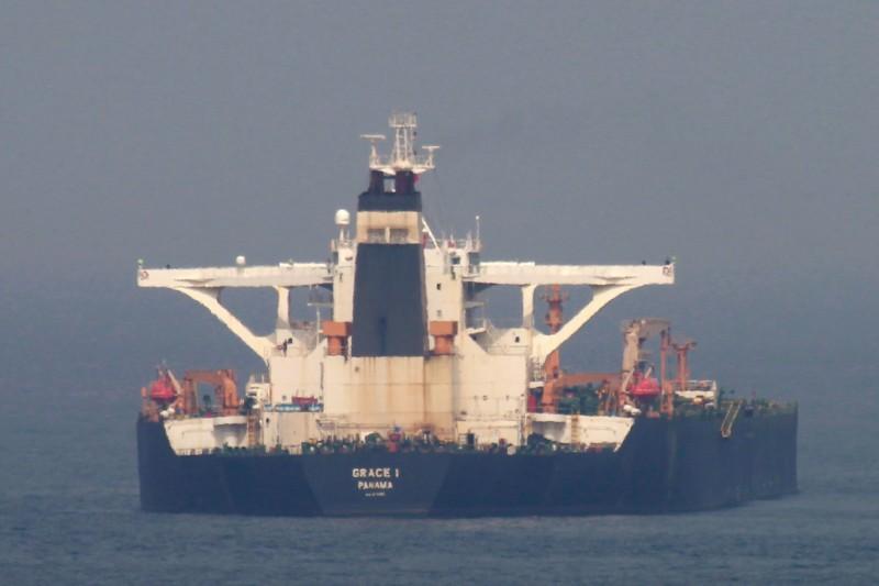 英國法院原訂於今日開庭決定伊朗格雷斯1號超級油輪的去留,沒想到卻遭美國插手阻擋。(歐新社)