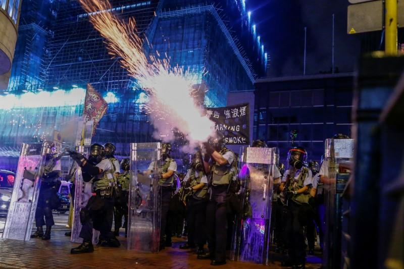 反送中抗爭升溫,香港警民衝突日益激烈。(路透)