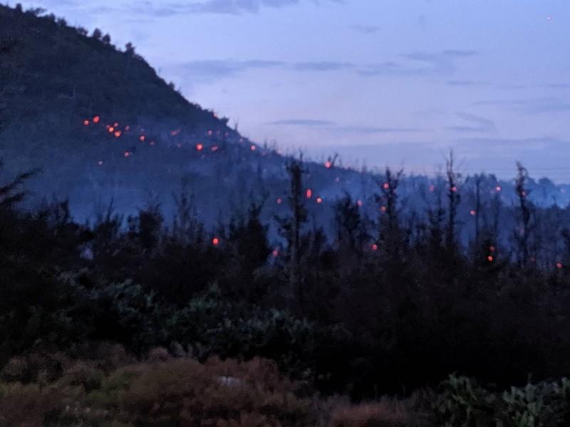 綠島防風林大火恐燒向村莊 黑鷹直昇機出動滅火