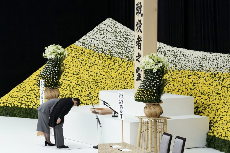 德仁天皇今日首度參加終戰紀念日追悼儀式並致詞,「深刻反省」過去歷史,誓言戰爭不再重演。(歐新社)
