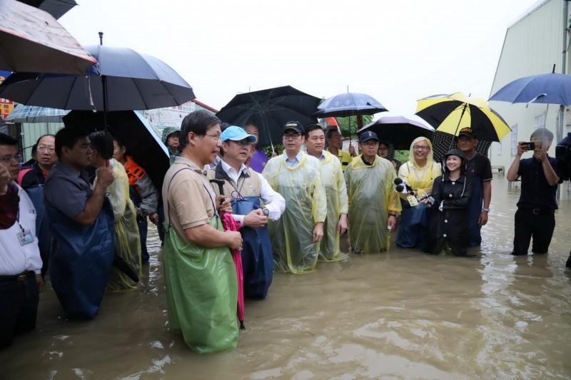 813水災台南市為重災區,多位議員建議放寬淹水補助標準。(資料照,南市府提供)