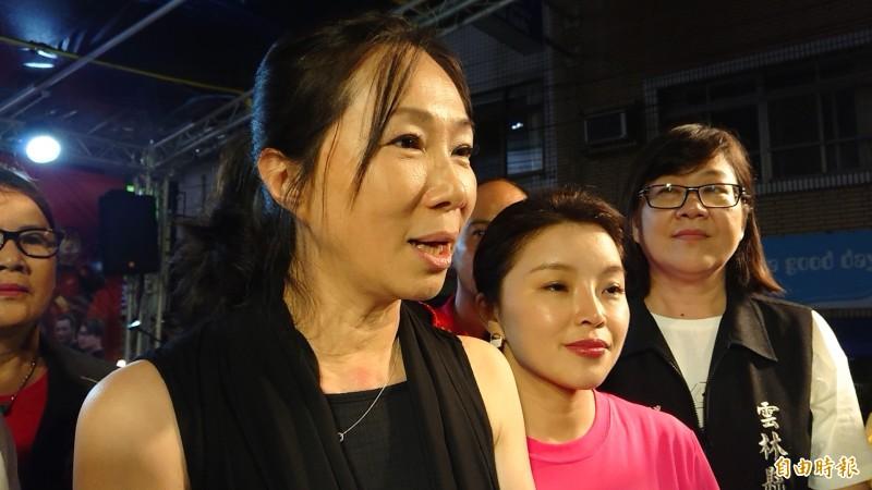 高雄市長夫人李佳芬表示不捨丈夫韓國瑜不斷遭抹黑。(記者廖淑玲攝)