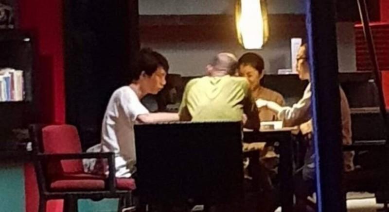 高雄市長韓國瑜打麻將照片曝光,潘恒旭對此要辦衛生麻將賽。(市議員林智鴻提供)