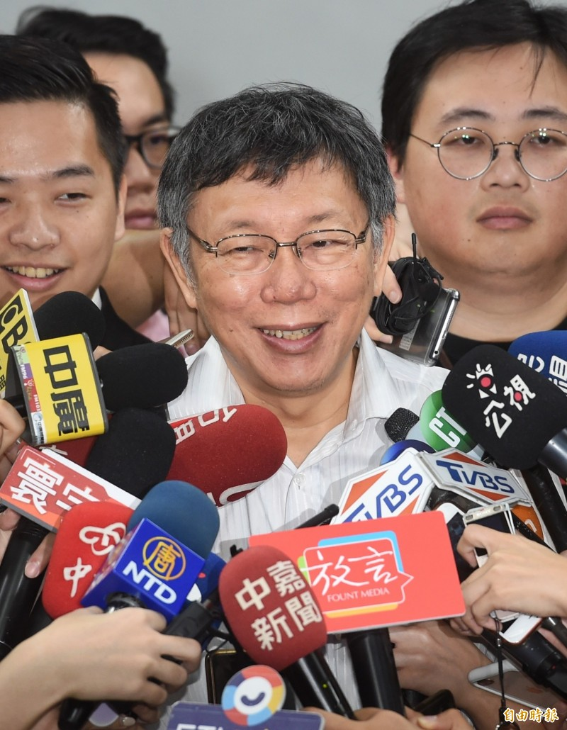 台北市長柯文哲。(記者方賓照攝)