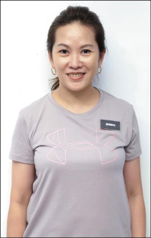 Momo/Under Armour 銷售諮詢專員:運動服飾產業15年經歷,提供運動愛好者專業的裝備諮詢服務。(記者陳宇睿/攝影)