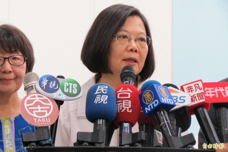 韓國瑜稱被國家機器監視,總統蔡英文說,國家機器很忙,不會做這種事情。(記者蘇金鳳攝)