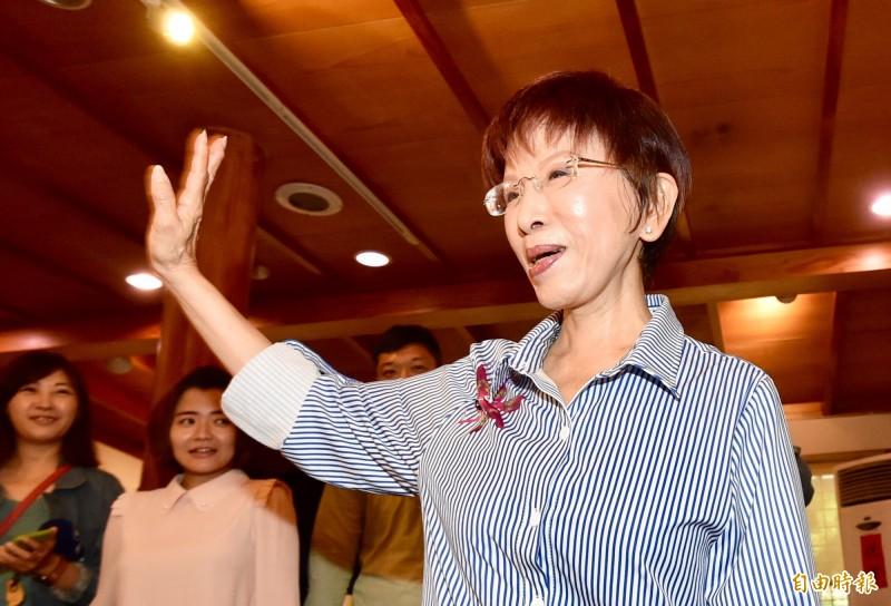 國民黨中央或台南市黨部都擔心洪秀柱仍堅持「一中同表」,成為藍營明年大選的不確定因素。(資料照)