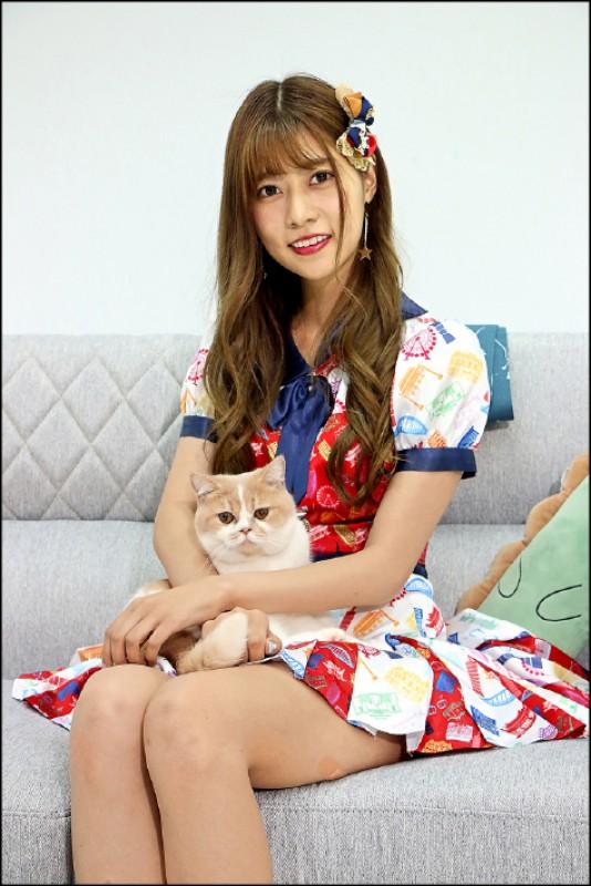 阿部瑪利亞:來自日本神奈川縣,AKB48 Team TP成員。(記者沈昱嘉/攝影)