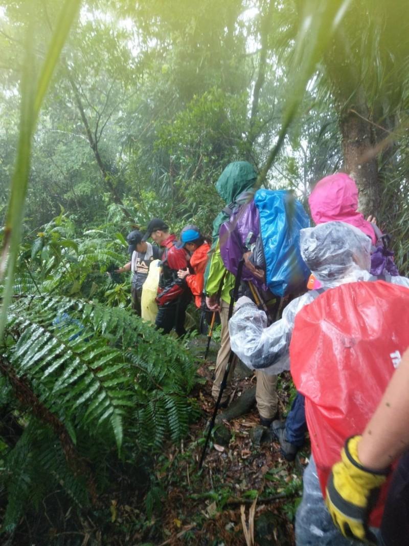 8登山客在石碇山區遭落雷襲擊。(記者徐聖倫翻攝)