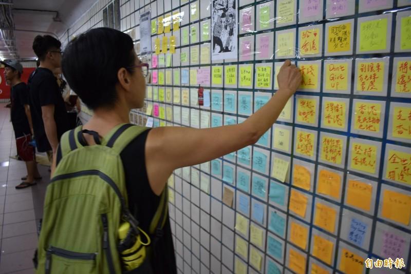 退休後到台灣生活的「小貓」,拜託台灣人守護民主自由。(記者張瑞楨攝)