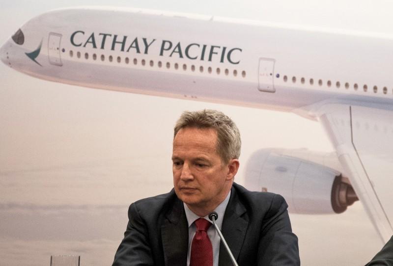 國泰航空行政總裁何杲(Rupert Hogg)日前因員工響應反送中罷工行動疑似「「被辭職」。(歐新社)