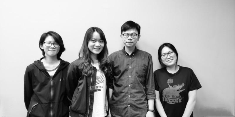 聯大建築學系獲獎師生王以戎、張廖軒曲、吳細顏老師、黃茵(由左至右)。(聯合大學提供)