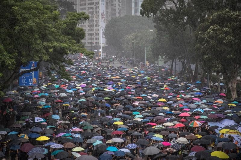 香港818維園170萬人集會平安落幕。(歐新社)