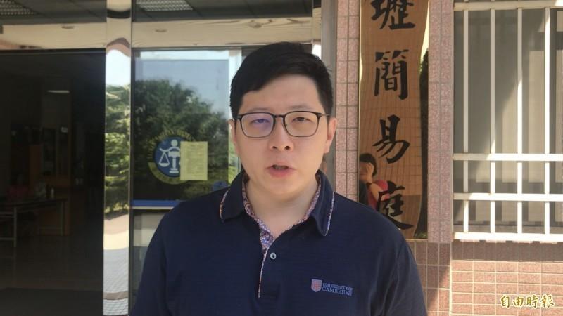 下午得知黃國昌不選、將由辦公室主任代打競選後,王浩宇附上哭臉圖案表示「我就說吧」,也嗆聲「當初罵我的時代力量支持者,現在要不要跟我道歉?」(資料照)