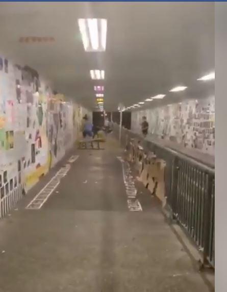 香港凌晨連儂隧道內爆濫砍事件 多人被砍至少3人受傷