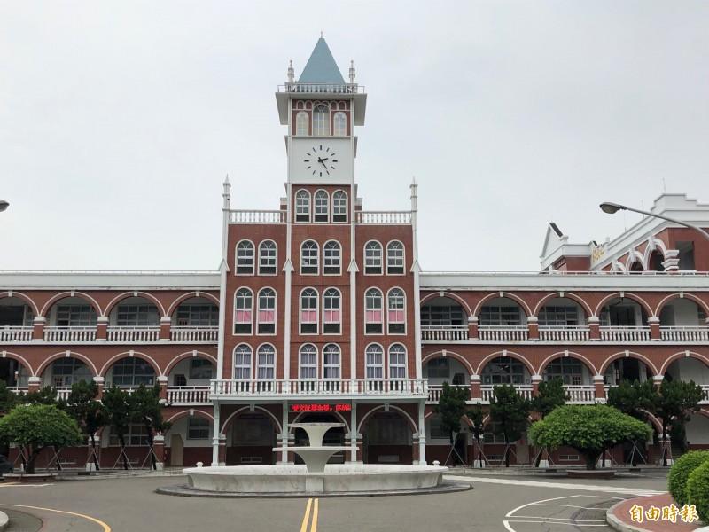 台灣最早中學長榮中學驚傳減薪爭議。(記者劉婉君攝)