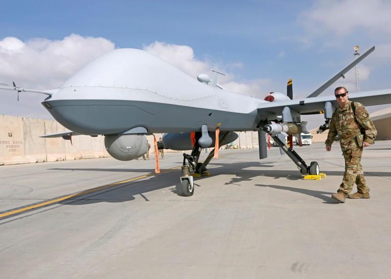 美國官員週三(21日)證實,美軍一架無人機「MQ-9死神偵察機」在葉門上空被擊落。(路透)
