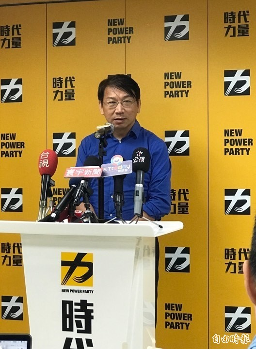 時代力量立委徐永明今日接任黨主席一職,表示針對明年黨對總統和立委的佈局,將在9月黨代表大會決議。(記者彭琬馨攝)
